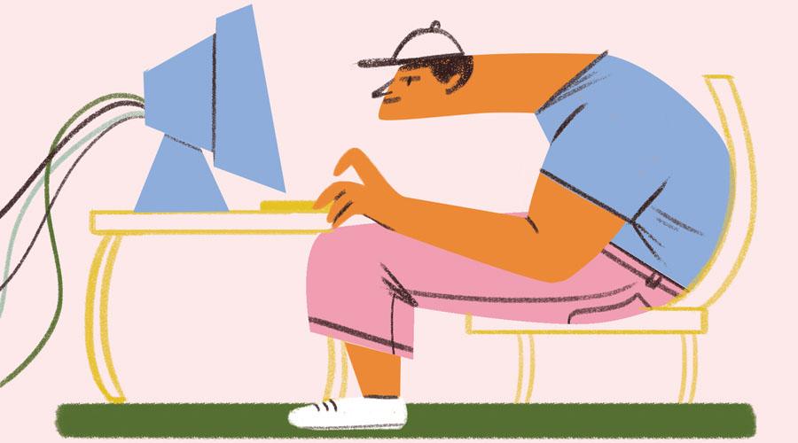 """синдром """"компьютерной"""" шеи"""